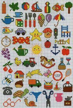 200 Cross Stitch – Page 20 Tiny Cross Stitch, Cross Stitch Boards, Cross Stitch For Kids, Cross Stitch Needles, Cross Stitch Designs, Cross Stitch Patterns, Cross Stitching, Cross Stitch Embroidery, Broderie Simple