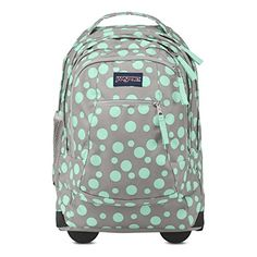 Jansport Driver 8 Grey Rabbit Sylvia Dot TN890BE   Jansport Driver 8 Grey Rabbit Sylvia Dot TN890BE For a life on-the-move, the JanSport Driver 8 rolling backpack converts from backpack to roller with tuck-away shoulder straps. The rolling backpack features a padded 15 inch laptop sleeve, side water bottle pocket and front organizer pocket.  http://www.newofficestore.com/jansport-driver-8-grey-rabbit-sylvia-dot-tn890be/