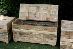 pallet storage bench - Google Search