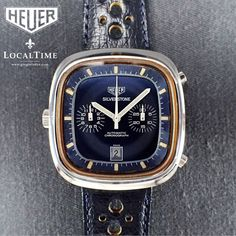 1970's HEUER [Swiss] Silverstone Ref. 110.313B Blue Chronograph Watch - Cal. 12 WE SPECIALISE IN VINTAGE WATCHES - MORE IN OUR STORE!