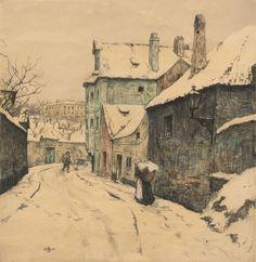Šimon František Tavík (1877-1942) | Z Nového světa v Praze, 1912 | Aukce obrazů, starožitností | Aukční dům Sýpka