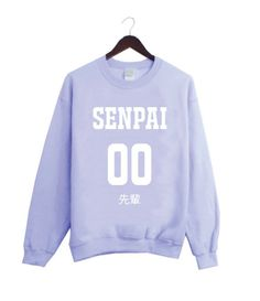 senpai sweatshirt| up to 2XL!  pastel pastel grunge fairy kei harajuku pastel goth fachin sweatshirt top plus etsy