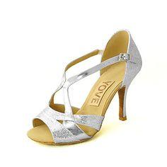 Sapatos de Dança ( Preto/Azul/Vermelho/Prateado/Dourado ) - Mulheres - Customizáveis - Latim/Salsa – EUR € 54.99