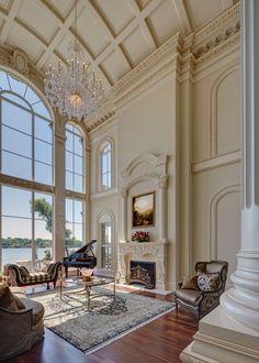 Dream Home Design, My Dream Home, Home Interior Design, Interior Architecture, Interior Decorating, House Design, Neoclassical Interior Design, Mansion Interior, Luxury Interior