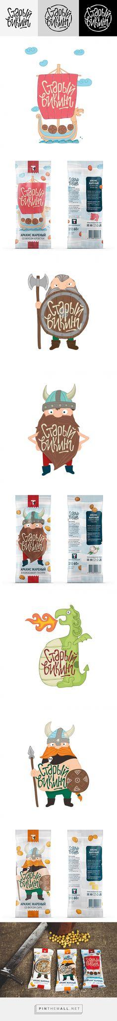 The old Viking™ / Packaging Design on Behance by Cristina Ivanova Лида, Belarus curated by Packaging Diva PD.  На начало работы с проектом у меня было только название – «Старый викинг». Хотелось уйти от привычных вещей и сделать знак более универсальным.