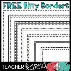 FREE Bitty Borders - Small Borders to Fit Your Educational