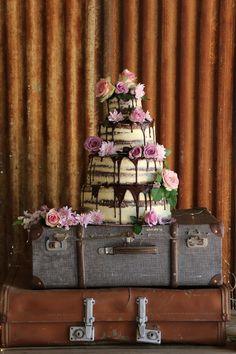Naked wedding cake Shiloh, Wedding Cakes, Naked, Desserts, Food, Wedding Gown Cakes, Tailgate Desserts, Deserts, Essen