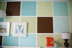 Quadrados coloridos na parede
