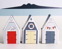 BEACH HUTS - Printable Paper Craft Templates