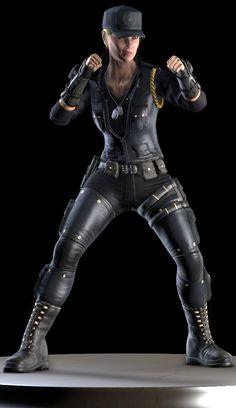 Mortal Kombat X Render Stand Sonya Blade