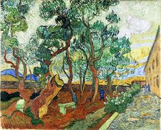 The Garden of the Asylum in Saint-Remy I Vincent Van Gogh Reproduction   1st Art Gallery