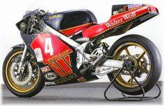 Masaru Mizutani Suzuki Bikes, Moto Suzuki, Suzuki Cars, Suzuki Motorcycle, Moto Bike, Racing Motorcycles, E Portfolio, Grand Prix, Course Moto