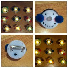 Snowman tea light pins!!! Sooo cute! Great for the holidays!