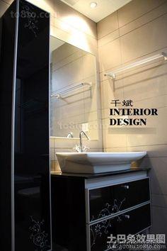 Black and white modern bathroom sink effect chart