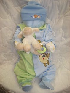 Newborn Baby Boy Gift. It's a #cuddlemebaby ! Cuddle Me Babies make great baby shower gifts or baby shower decorations! Add a pacifier and a stuffed animal for more fun! $39.95  www.cuddlemebabies.com