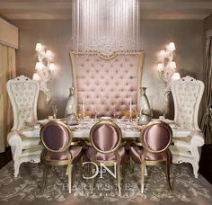 Hollywood style Dining Room - Charles Neal Interiors -