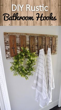 How Japanese Interior Layout Could Boost Your Dwelling Diy Rustic Farmhouse Bathroom Hooks Rustic Industrial Decor, Diy Rustic Decor, Rustic Kitchen Decor, Country Farmhouse Decor, Home Decor Kitchen, Diy Home Decor, Country Primitive, Rustic Charm, Country Chic
