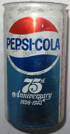 75th Anniversary Coca Cola, Pepsi Ad, Diet Pepsi, Coke, Cola Wars, Pop Cans, Retro Advertising, Vintage Bottles, Mountain Dew