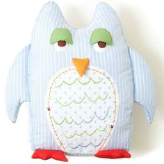 Owl Decorative Pillow | The Little Acorn Owl Nursery Decor #owlthemenursery #owlpillow #toothfairy Add to your #babyregistry #babyshower