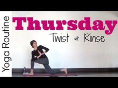 Thursday - Twist & Rinse Vinyasa Yoga Routine- #7DayYogaChallenge - YouTube