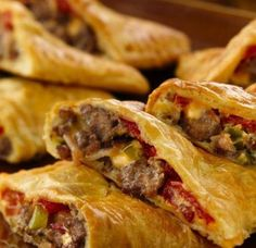 Oh, boy!  All the flavors of a bacon cheeseburger are tucked into a flaky crescent pocket.