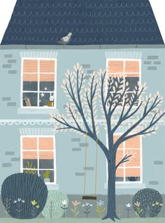 one day in spring, illustration by Tina Schulte