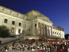 Brooklyn Museum on a summer's night.