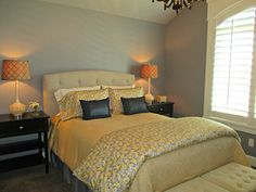 Gray Shingle by Sherwin Williams - bedroom paint color