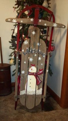 christmass paintings on sleighs - Google Search
