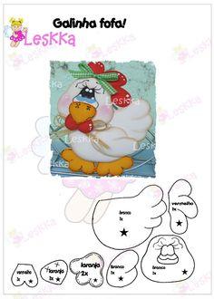 gallinita Paper Piecing Patterns, Felt Patterns, Chicken Pattern, Chicken Crafts, Chickens And Roosters, Sewing Appliques, Coq, Foam Crafts, Punch Art