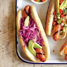 Mexican Hot Dog | MyRecipes.com #myplate #protein #veggies #fruit #wholegrain