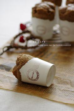 紙コップでコーヒーシフォンケーキ
