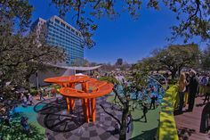 33 Idyllic Parks That Bring Nature to the City Houston Parks, Houston Zoo, Discovery Green, Hermann Park, Outdoor Theater, Splash Pad, Urban Park, Memorial Park, Nature Center