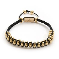 Description Healing Power More An unusual sight for the trained Jahamota eye black waxed string comes together in this great bracelet with the PVD-gold plated e Fort Knox, Wax, Beaded Bracelets, Gold, Leather, Black, Jewelry, Products, Women