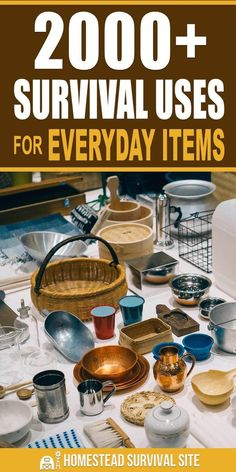 This is the ultimate index to survival uses for everyday items. Here you'll find a list of nearly 100 ordinary items that have all sorts of survival applications. I did the math, and it adds up to survival uses! The Best Ideas also for Survival Life Hacks, Survival Essentials, Survival Items, Survival Supplies, Emergency Supplies, Urban Survival, Homestead Survival, Survival Food, Wilderness Survival