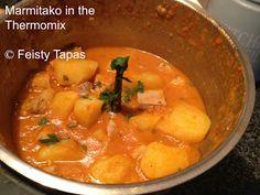 Marmitako recipe (Spanish tuna casserole) in the Thermomix Tuna Recipes, Healthy Recipes, Tuna Casserole, Seafood Soup, Andalusia, Malaga, Paella, Tapas, Spanish