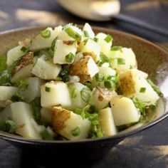 Dressed with a tangy lemon vinaigrette and fresh mint, this invigorating—and dairy-free—potato salad makes the perfect summer potluck contribution.