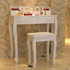 vanity table without mirror. Songmics Vanity Dressing Table without Mirror Stool Modern Makeup  RDT80W Tables dressing table