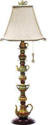 Teapots lamp.