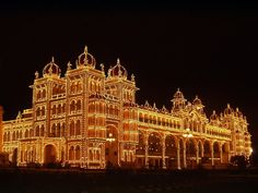 Mysore Palace in India I've been there once beautiful place.