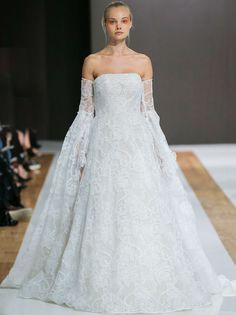 The new Mark Zunino wedding dresses have arrived! Take a look at what the latest Mark Zunino bridal collection has in store for newly engaged brides. Mark Zunino Wedding Dresses, Wedding Dresses Photos, Wedding Dress Trends, Bohemian Wedding Dresses, Fall Wedding Dresses, Wedding Dress Sleeves, Designer Wedding Dresses, Bridal Dresses, Most Beautiful Wedding Dresses