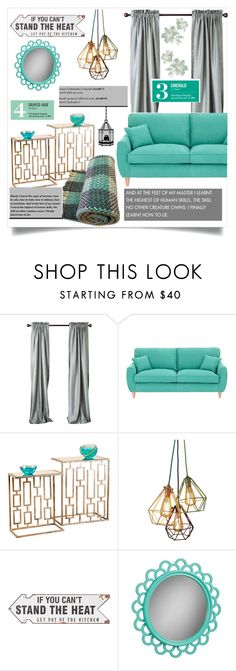 """Green 1"" by doltshey ❤ liked on Polyvore featuring interior, interiors, interior design, home, home decor, interior decorating, Fearne Cotton, PBteen, Garance Doré and Universal Lighting and Decor"