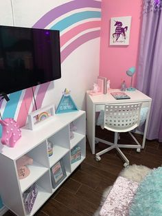 Bed For Girls Room, Little Girl Rooms, Girls Bedroom, Kids Bedroom Designs, Room Ideas Bedroom, Unicorn Room Decor, Room Inspiration, Decoration, Future