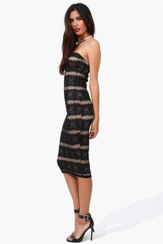 Black Tie Lace Dress in Black if only I was skinny