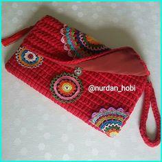 Crochet Clutch Bags, Crochet Wallet, Crochet Coin Purse, Crochet Case, Crochet Handbags, Crochet Purses, Love Crochet, Knit Crochet, Crochet Basket Pattern