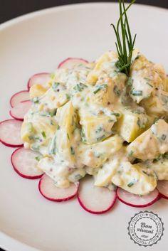 Zemiakový šalát s jogurtovou zálievkou a reďkovkami • bonvivani.sk