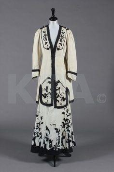 edwardian walking suits | lady's natural linen summer/walking suit, circa 1910
