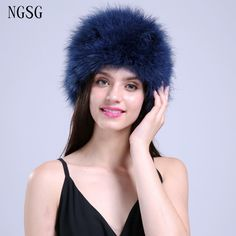 Jewelry Blue Women Fur Hat Soft Winter Skullies Beanies Cute Solid Sample Pattern Casual European American Style ET4030-16