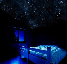 Glow In The Dark Wall Murals enchanting glow in the dark ceiling mural for attic bedroom with