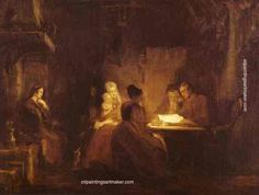 Sir David Wilkie - The cotters saturday night 1837 xx glasgow art gallery and museum glasgow uk - Oil painting reproduction Online Painting, Hand Painting Art, Glasgow Art Gallery, David Wilkie, Free Art Prints, Oil Painting Reproductions, Art Uk, Pop Art, Illustration Art